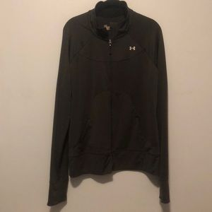 Under Armour Performance Zip-Up Black Semi-Fitted